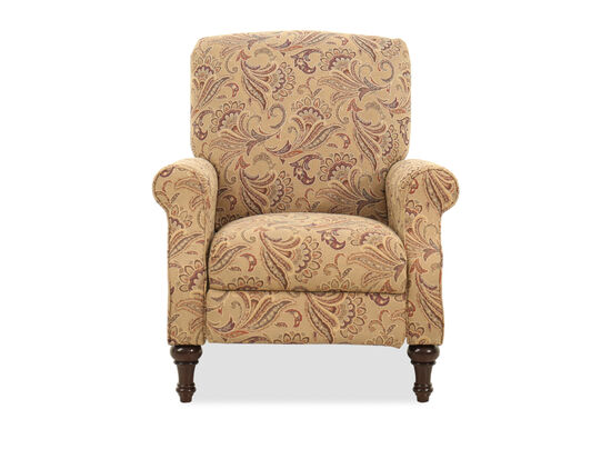 """Floral-Patterned Contemporary 33"""" Pressback Recliner"""