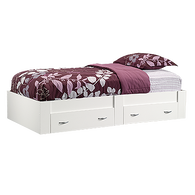 MB Home Genesis Soft White Twin Platform Bed
