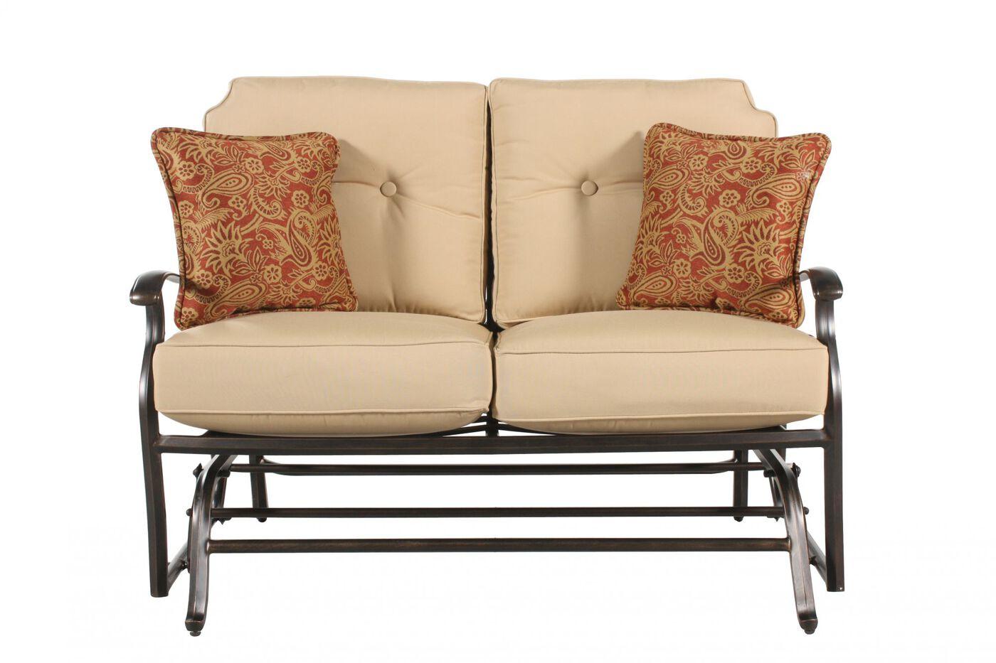 Mathis Brothers Patio Furniture agio heritage select gliding loveseat | mathis brothers furniture