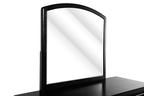 Arched Country Youth Mirror in Black