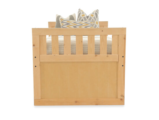 Solid Pine Youth Storage Bed in Cinnamon