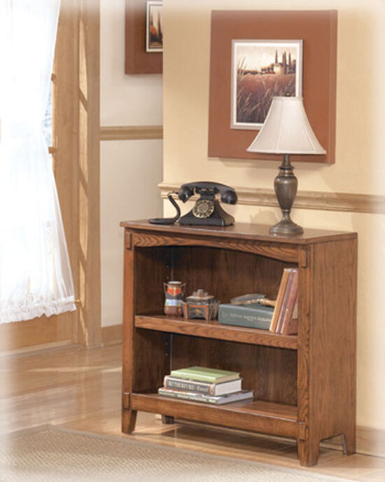 Mission Small Bookcase in Medium Brown Oak
