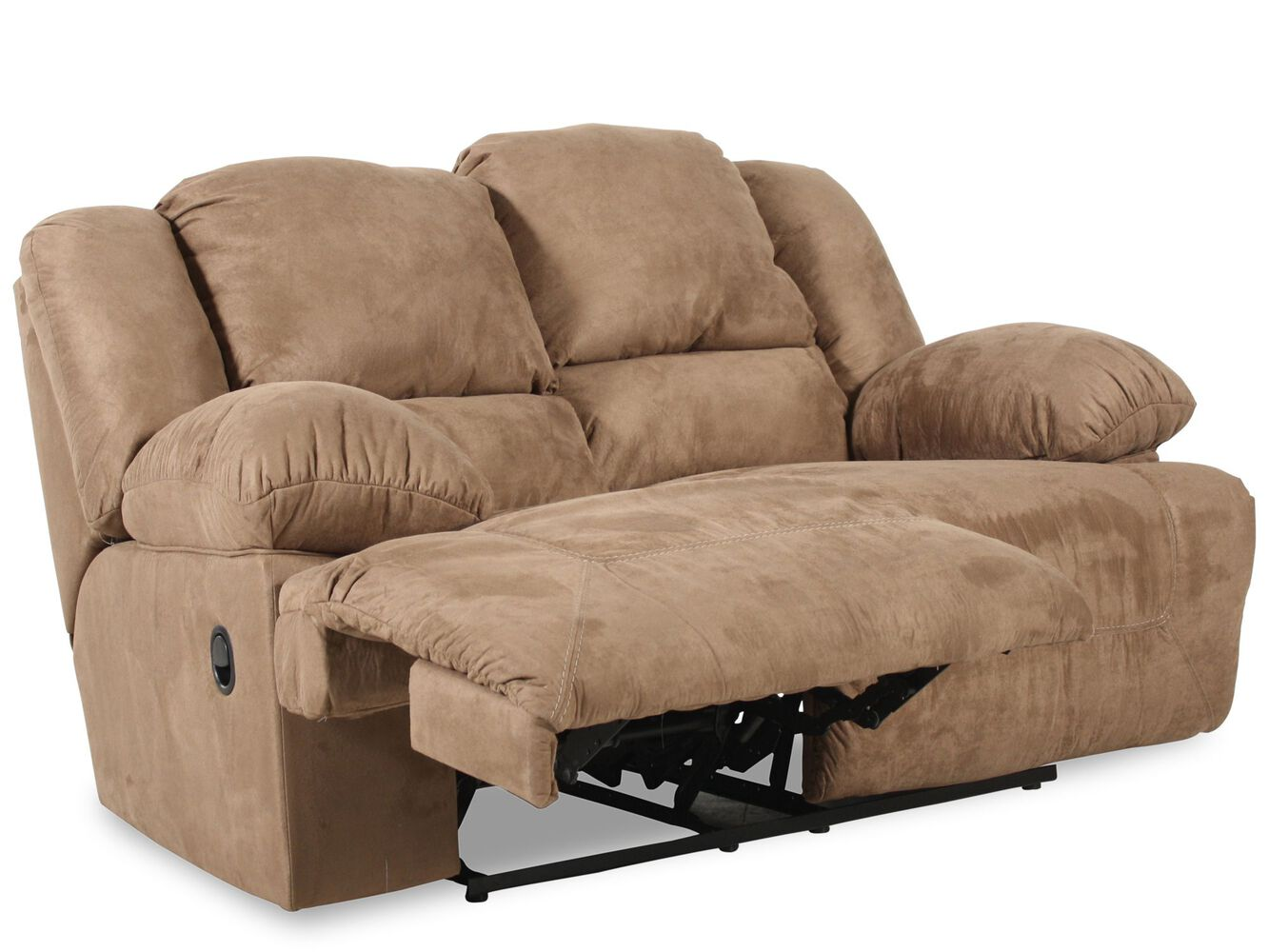 Reclining Microfiber 73 Loveseat In Brown Mathis