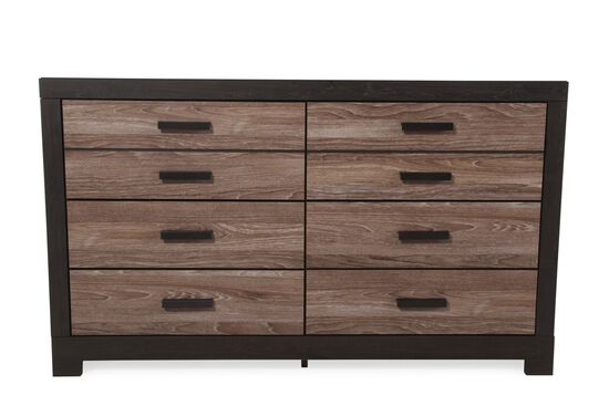 "36"" Contemporary Six-Drawer Dresser in Brown"