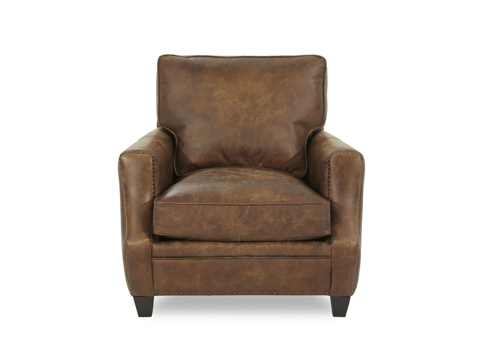 Charming Bernhardt Barclay Leather Mocha Chair
