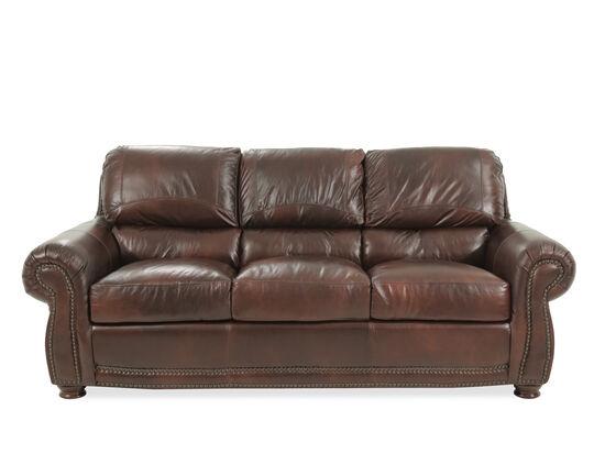 """85"""" Leather Sofa in Amaretto"""