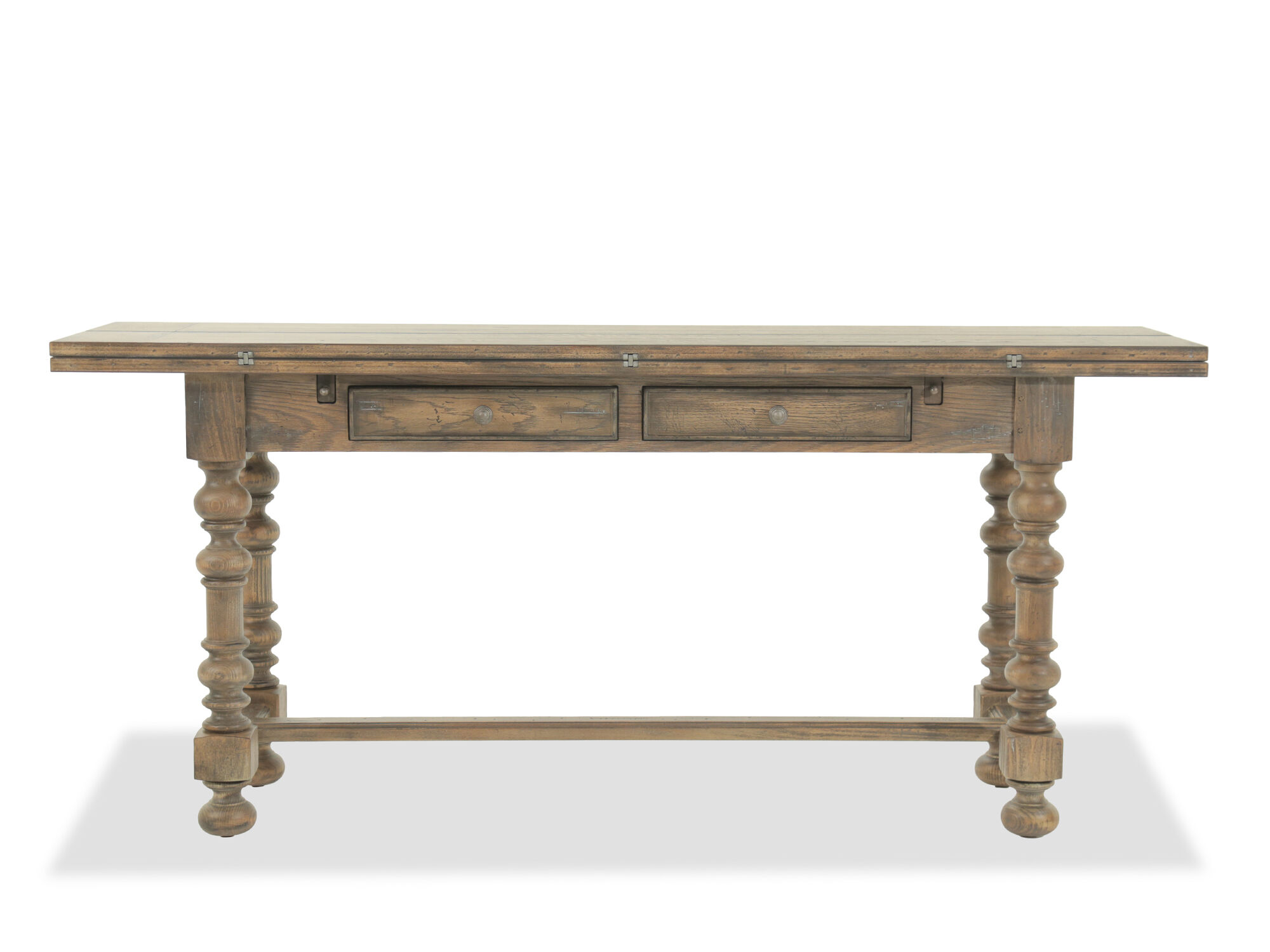 Charmant Images Flip Top Traditional Console Table In Brown Flip Top Traditional  Console Table In Brown