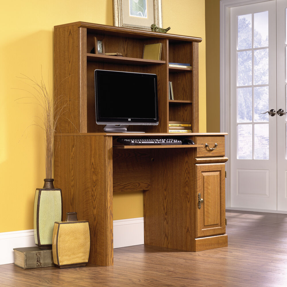 Images 42 5 Cottage Computer Desk With Hutch In Ina Oak