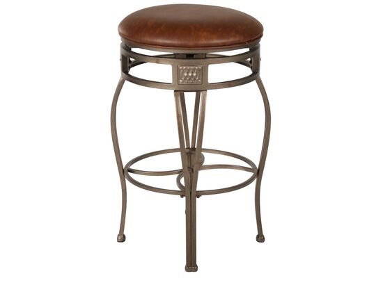 """Traditional 30"""" Swivel Bar Stool in Old Steel"""