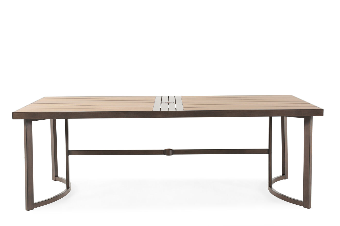 Stretcher contemporary rectangular dining table in light for Contemporary rectangular dining table