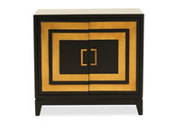 Contemporary Two-Door Accent Chest in Dark Brown