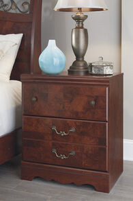 Ashley Delianna Reddish Brown Two Drawer Nightstand