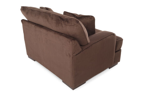 """Textured Microfiber 57"""" Chair and a Half in Dark Chocolate"""
