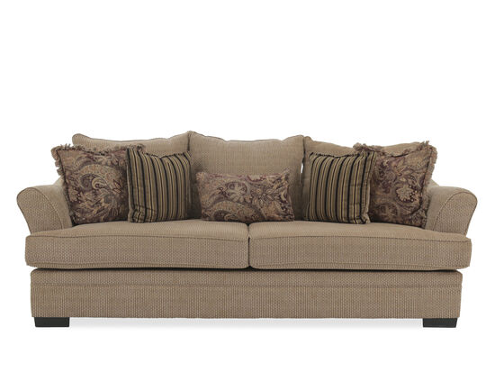 """Traditional 101"""" Sofa in Nutmeg Brown"""