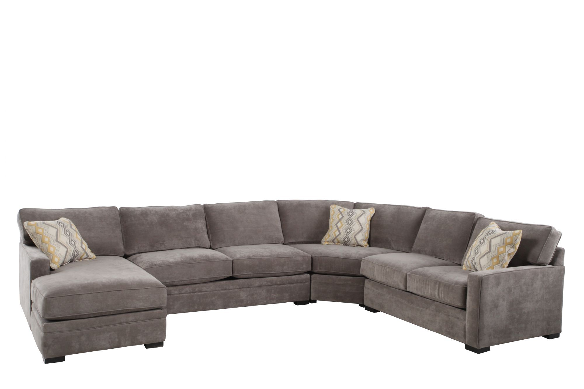 Four-Piece Contemporary 150u0026quot; Sectional in Hazelnut  sc 1 st  Mathis Brothers : jonathan louis chaise lounge - Sectionals, Sofas & Couches