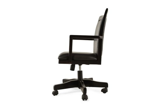 Ergonomic Swivel Arm Chair in Black