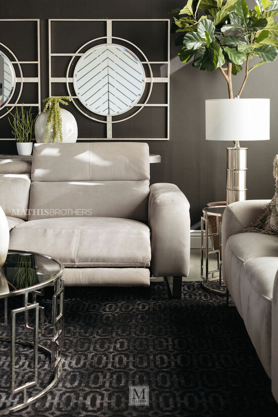 Microfiber 84 Quot Reclining Sofa In Gray Mathis Brothers