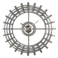 Forged Open Frame Wall Clock in Antique Silver Leaf
