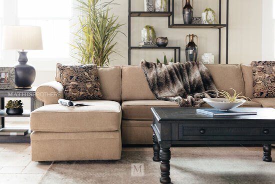 """Casual 147"""" Sectional in Sand"""