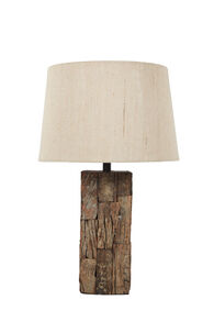Ashley Selemah Light Brown Wood Table Lamp