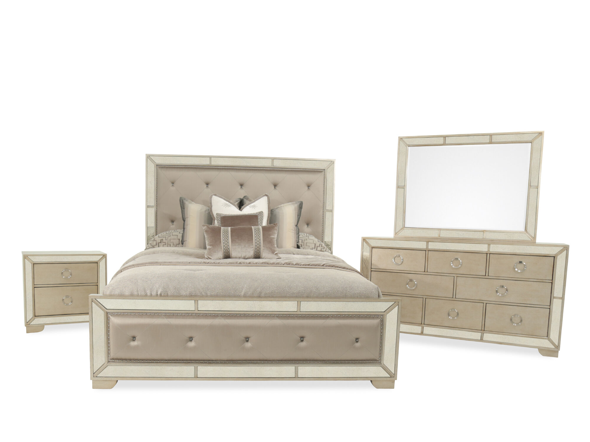 Pulaski Farrah Upholstered Queen Bedroom Suite ...