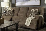 "97"" Power Reclining Plush Sofa in Brown"