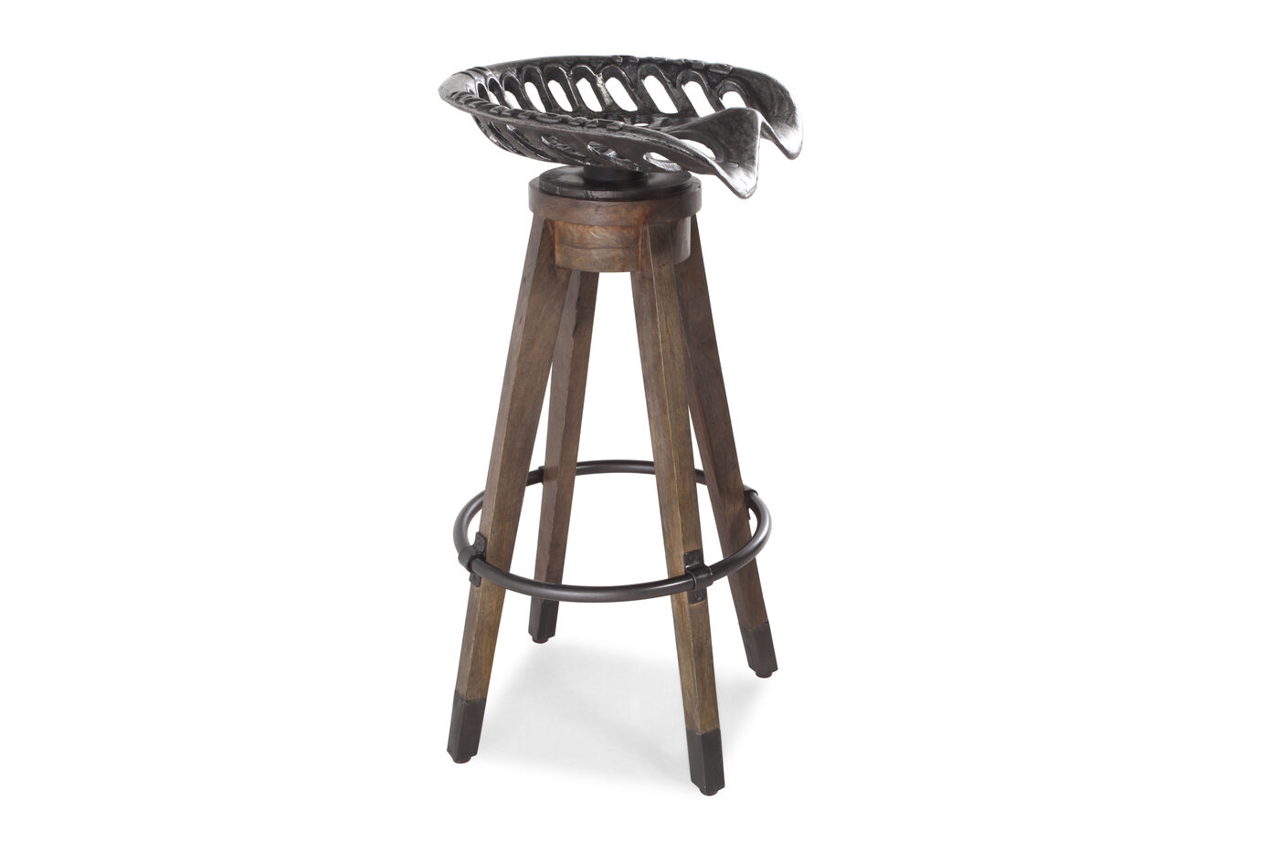 Country 33 5 Quot Swivel Bar Stool In Dark Brown Mathis