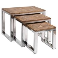 Rectangle Nesting Tables in Silver
