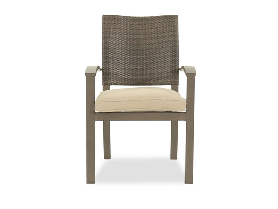 Woven Back Contemporary Arm Chair in Beige