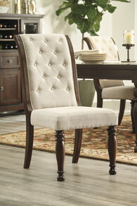 Ashley Porter Dark Brown Upholstered Side Chair