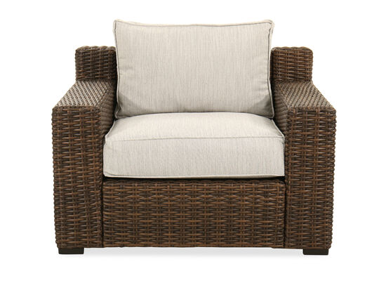 Woven Lounge Chair in Dark Brown