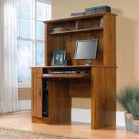 MB Home Sleek Oak Abbey Oak Computer Desk with Hutch