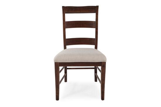 Ladder Back 40'' Side Chair in Dark Brown