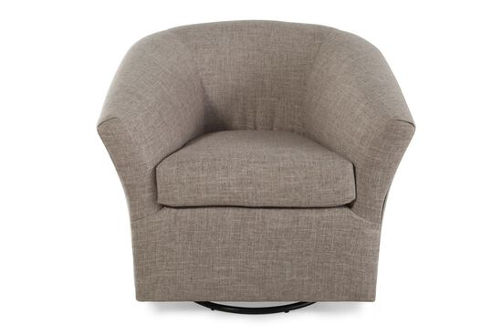 "Contemporary 20"" Swivel Glider Chair in Brown"