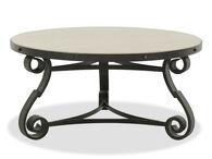 Metal Round Traditional Cocktail Tablein Black