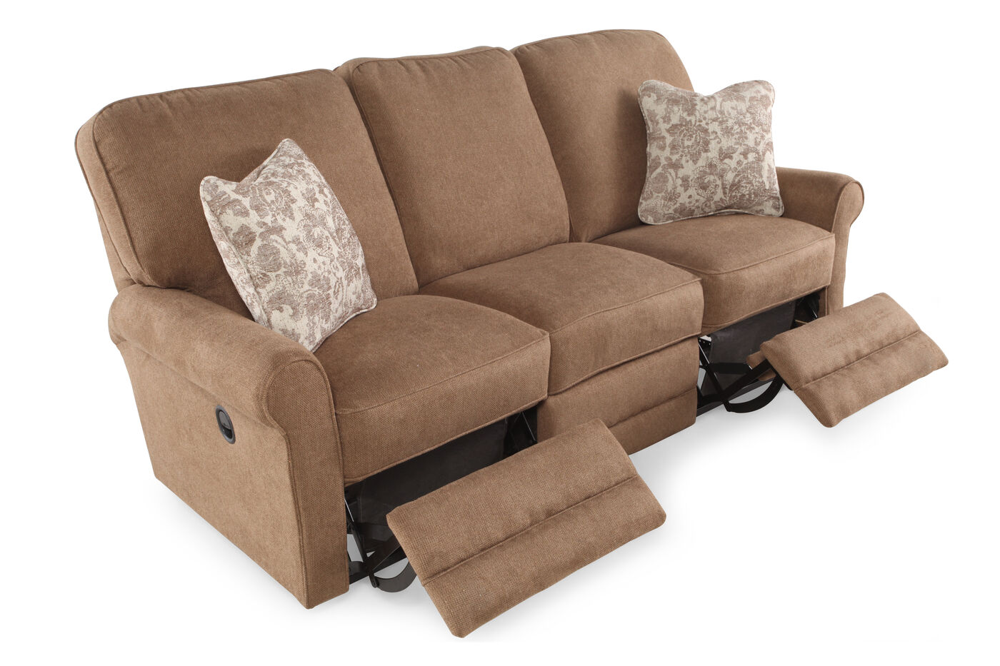 Contemporary 83 Reclining Sofa In Mushroom Brown Mathis  ~ Best Place To Buy Reclining Sofa