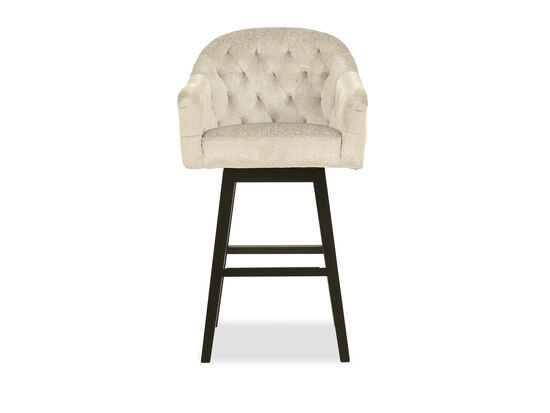 Quilted Barstool in Half White