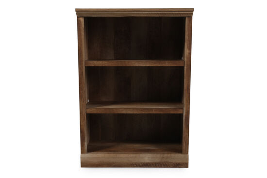 Casual Adjustable Shelf Open Bookcase in Oak