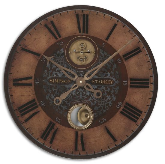 Roman Numeral Pendulum Wall Clock