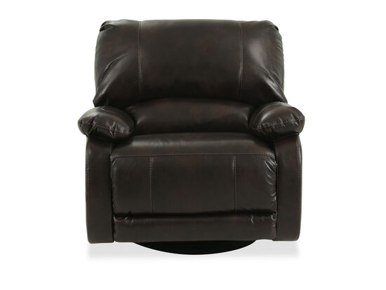 "Contemporary 41"" Swivel Recliner in Brown"