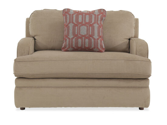 """Traditional 49"""" Sleeper Chair in Beige"""