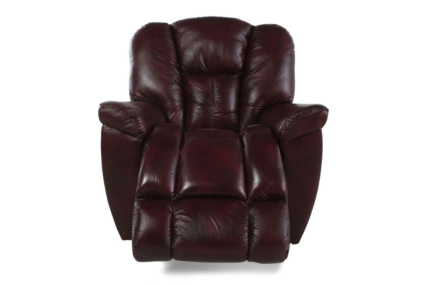 La Z Boy Maverick Claret Recliner Mathis Brothers Furniture