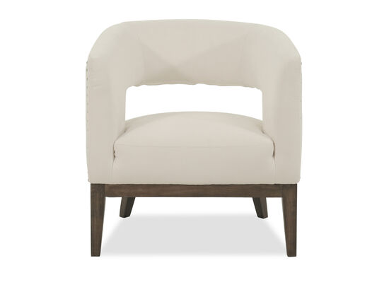Open Back Casual Chair in Chalk White