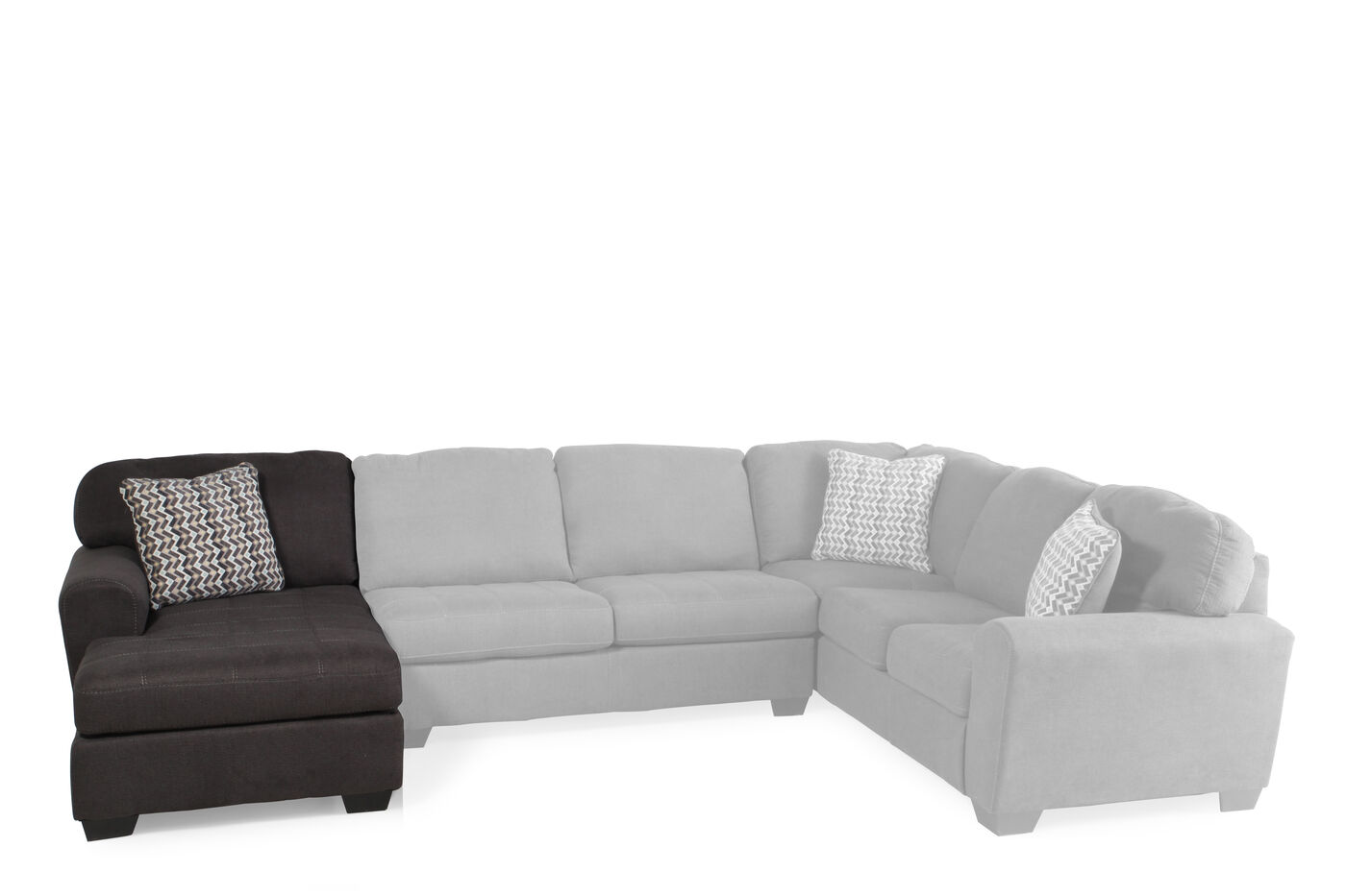 Microfiber 41 left arm facing chaise in slate mathis for Ashley microfiber sectional with chaise