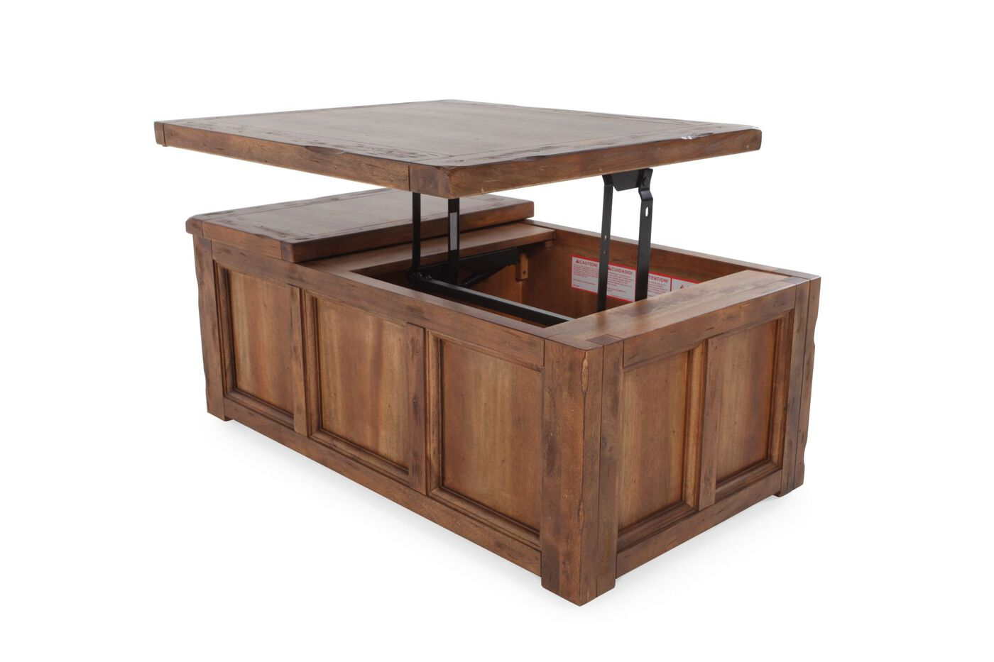 Lift Top Contemporary Cocktail Table In Brown Mathis