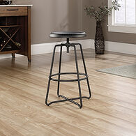 MB Home Central Avenue Black Counter-Height Stool