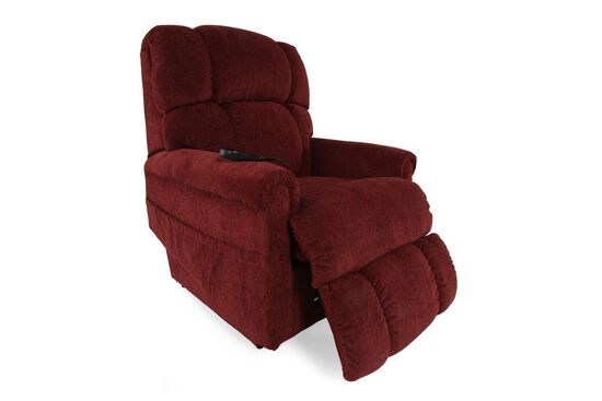 "Casual 33"" Lift Recliner in Dark Red Merlot"