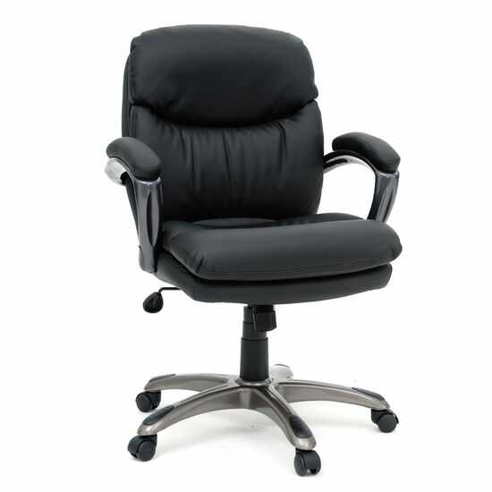 Mid-Back Height Adjustable Manager's Chairin Black