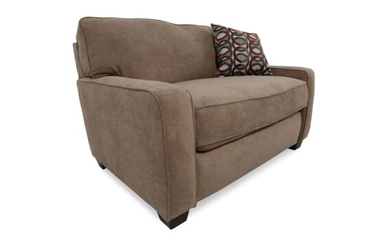 """I-Rest Casual 54"""" Sleeper Chair in Brown"""