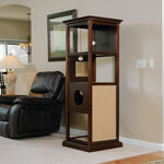 MB Home Golden Gate Espresso Traditional Cat Tower
